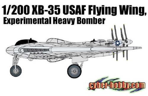 Cyber Hobby 1/200 XB-35 USAF Flying Wing, Experimental Heavy Bomber
