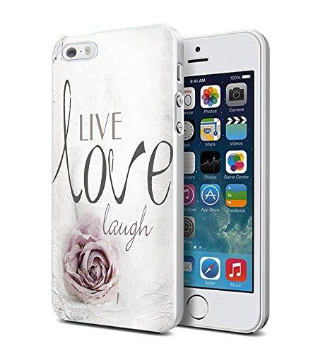 iPhone 5s Case 3D Textured New Unique Design Personalized Live Love Laugh