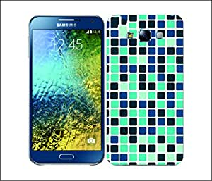 Galaxy Printed 2412 Mosaic Tile Blue Hard Cover for Samsung E7