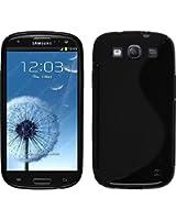 PhoneNatic - Custodia in Silicone per Samsung Galaxy S3 Neo - S-Style nero  + pellicola protettiva