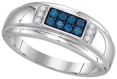DIAMOND RING 0.33CTW-DIA FASHION MENS RING RWBA1819/W Size O