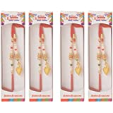 Mukt Jewellers Gold And White Cotton Rakhi For Men - Set Of 4 (CII-2781)