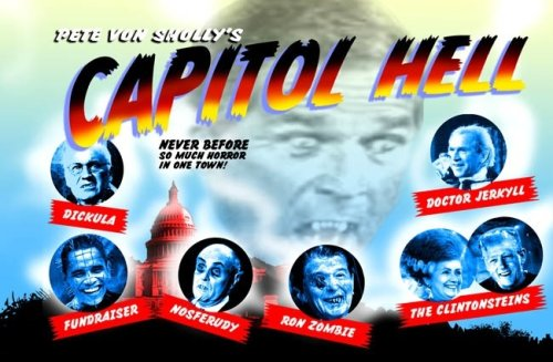 Capitol Hell Political Monsters Postcard Book by Pete Von Sholly