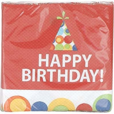 B/Day Circles Bev Napkin 16Ct - 1