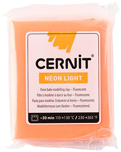 Cernit Modelliermasse Backofen Neon Light Orange 62 g