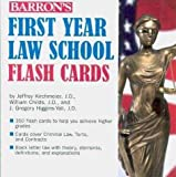 Barron's First Year Law School Flash Cards: 350 Cards with Questions & Answers by Jeffrey L. Kirchmeier, J.D., William G. Childs, J.D., J. Gre (2010) Cards