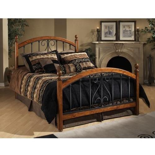 Hillsdale Furniture 1258BKR Burton Way Bed Set with Rails, King, Cherry