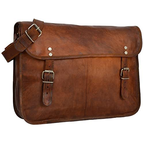 Gusti Leather Genuine Satchel Messenger Shoulder Bag Business Office Briefcase Vintage College University Laptop...