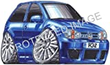 Koolart Car Tax Disc Holder 1847 VW Golf R32
