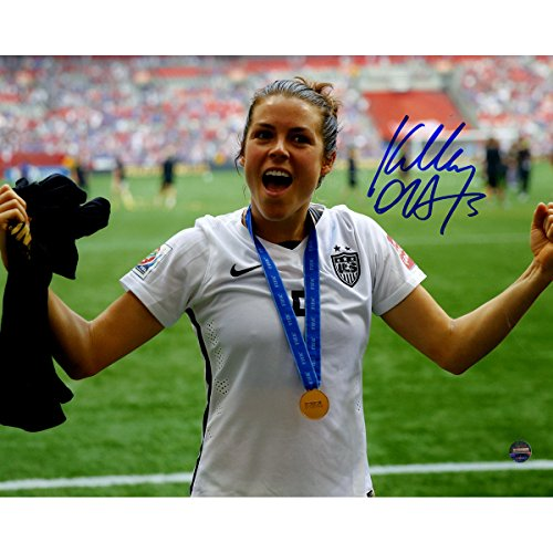 Kelley Ohara Autographed Team USA 2015 Womens World Cup Final Champions Trophy Celebration 8 Inches By 10 Inches Photo (Champions Cup Trophy compare prices)