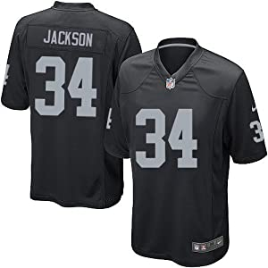 Bo Jackson Oakland Raiders NFL Black Game Day Replica Jersey Size XL by NFL