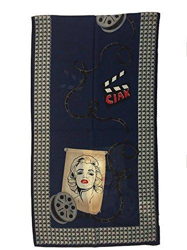 Sciarpa seta e lana stampata 155x42cm BRACCIALINI