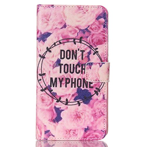 Galaxy S5 Case, Firefish Book-style Flip PU Leather Wallet [Kickstand] [Magnetic Closure] [Card Slots] [Scratch Resistant] Protector for Samsung Galaxy S5+ One Stylus-Flower