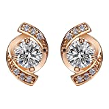 Wild Wind Diomand Fashion Cluster Style 18k Rose Gold Stud Earrings