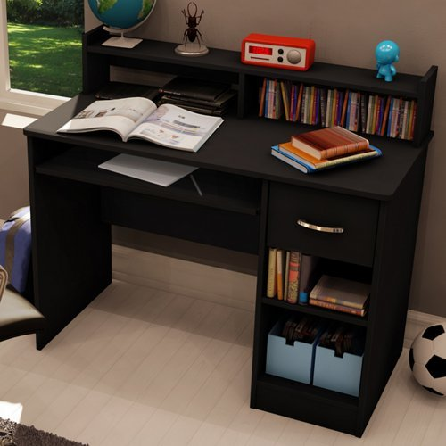 Axess Small Desk Pure Black front-889199