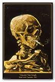 Van Gogh (Skull with Cigarette, 1885) Art Print Poster - 24x36 Poster Print by Vincent van Gogh, 24x36 Poster Print by Vincent van Gogh, 24x36