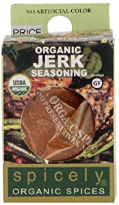 Spicely Organic Seasoning, Jerk Salt Free, 0.6 Ounce