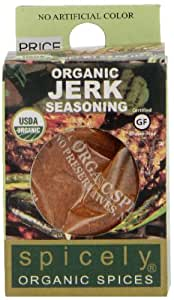 Spicely Organic Seasoning, Jerk Salt Free - Compact