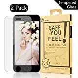 iPhone 6 Plus Screen Protector, [2 Pack] BTGGG 0.3mm / 2.5D Round Edge Tempered Glass Screen Protector for iPhone 6 Plus / 6S Plus [Anti-fingerprint HD Easy Installation]
