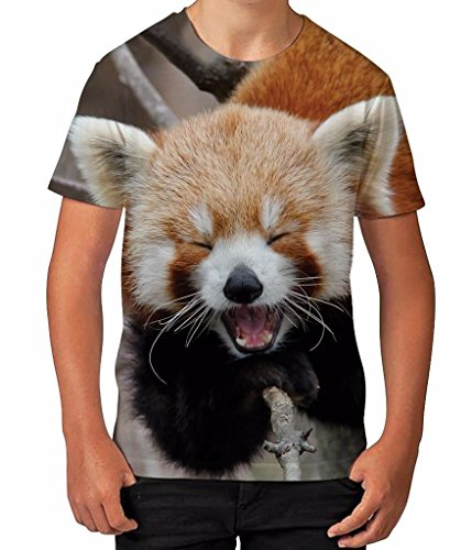 Red Panda Funny Music Instrument Musical Fun Boys Unisex Kids Child T Shirt