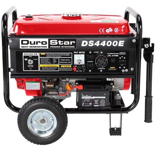 Durostar DS4400E 7 HP Gasoline Powered Electric Start Portable Generator with Wheel Kit, 4400-watt, EPA Approved
