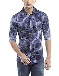 Bandit Dark Blue Casual slim Fit Shirt
