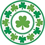 Amscan Lucky Shamrock 7in Party Dessert Plates-8 count
