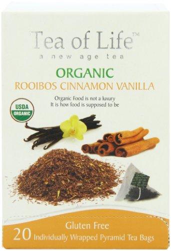 Tea Of Life Organic Rooibos, Cinnamon Vanilla, 20 Count