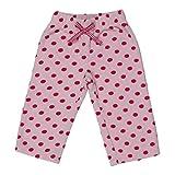 CrayonFlakes Baby Girls 12-18 Months Polar Fleece Pyjamas/Pants/Leggings (BG15/16-FUR1, Baby Pink)