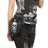steel master Punk Skull Waist Bags Leg Holster Retro Bags Goth Shoulder Waist Bags Packs