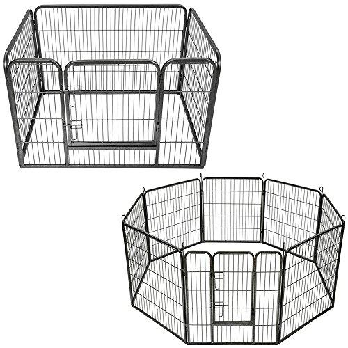 Songmics recinzione recinto per cani conigli animali for Recinto per cani taglia grande