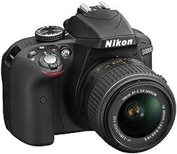 Nikon D3300 Kit Fotocamera Reflex Digitale con Obiettivo Nikkor 18/55VR II new F, 24.2 Megapixel, LCD 3 Pollici, SD 8GB 200x Premium Lexar, Nero [Nital card: 4 anni di garanzia]