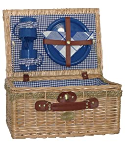 Sutherland Jubilee Picnic Basket for 2 - SP318-Blue & White