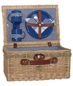 Sutherland Jubilee Picnic Basket for 2 - SP318-Blue & White