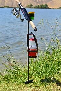 Minifighter fishing rod holder black sports for Amazon fishing rod holders