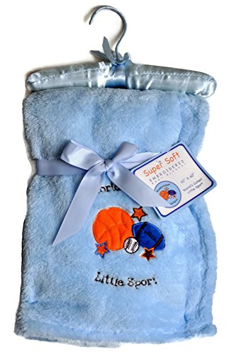 BABY BOY BLUE ENBROIDERED BLANKET