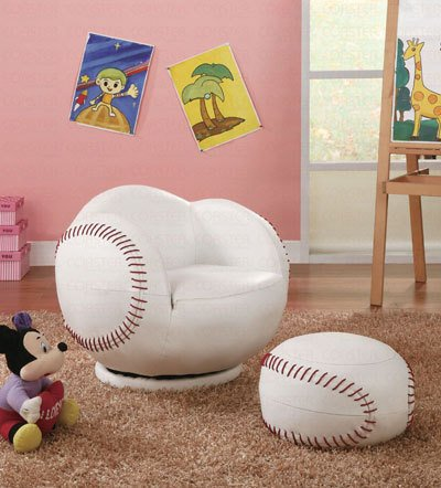 Fabulous Sale Baseball Small Chair And Ottoman Set Find Best Cheap Andrewgaddart Wooden Chair Designs For Living Room Andrewgaddartcom