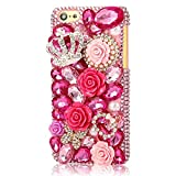 EVTECH(TM) for Iphone 5C 3D Handmade Bling Crystal Butterfly and Colorful Flowers Rhinestone Diamond Hard Case Cover(100% Handcrafted)