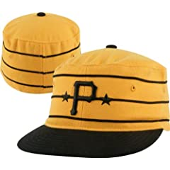 Pittsburgh Pirates 1977 Fitted Throwback Hat Gold Size 7 3 8 by American Needle