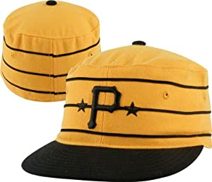 Pittsburgh Pirates 1977 Fitted Throwback Hat Gold Size 7 5 8 by American Needle