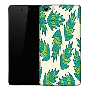 Snoogg a seamless leaf pattern Designer Protective Back Case Cover For Micromax Canvas Selfie Q348