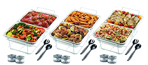 Sterno 70150 24-Piece Disposable Party Set (Buffet Serving Pans compare prices)