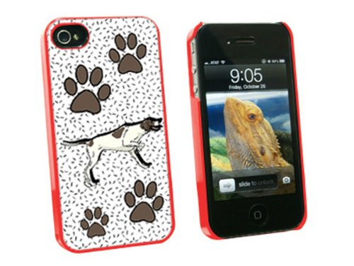 Graphics And More Pointer Dog Of Brilliance - Snap On Hard Protective Case For Apple Iphone 4 4S - Red - Carrying Case - Non-Retail Packaging - Red