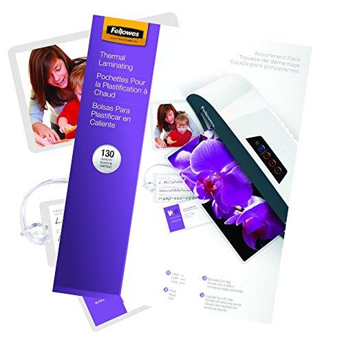 Fellowes Laminating Pouch Starter Kit 130-Pack 5208502