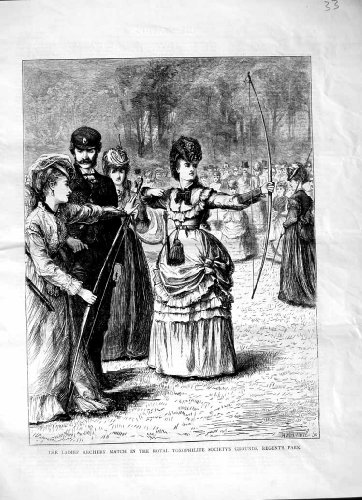 1870 Ladies Archery Royal Toxophilite Regent'S Sport