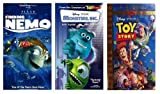 Finding Nemo + Monsters Inc. + Toy Story (Special Edition, Gold Classic Edition) (3 VHS)