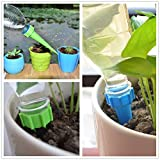 Aeaker-4 Count Recycle a Plastic Bottle Stake Set and Instructions - Reusable Plant Watering Sticks