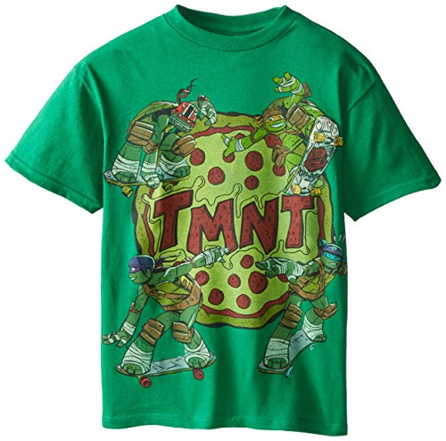 Teenage Mutant Ninja Turtles Big Boys' Pizza T-Shirt, Green, Medium - 1