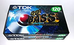TDK CD Heavy Bass Performance 120 Minutes Audio Cassette Tapes - 2 Pack