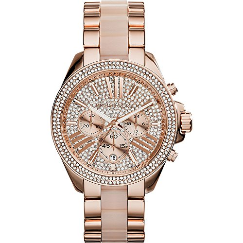Michael Kors Women's MK6096 Wren Two-Tone Stainless Steel Watch (Resin Wren compare prices)